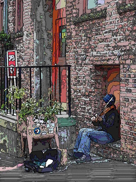 Busker Wall Art - Digital Art - Market Busker 15 by Tim Allen