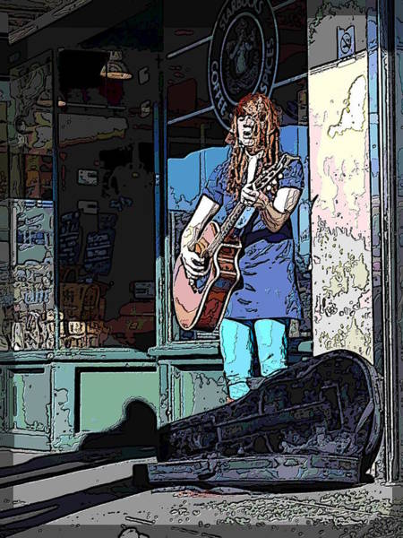 Busker Wall Art - Digital Art - Market Busker 17 by Tim Allen