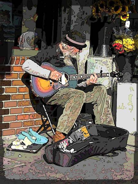 Busker Wall Art - Digital Art - Market Busker 5 by Tim Allen