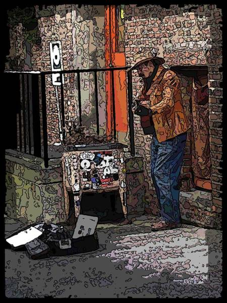 Busker Wall Art - Digital Art - Market Busker 6 by Tim Allen