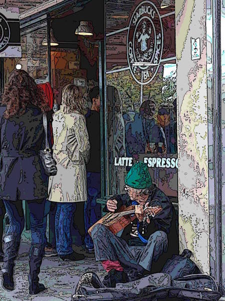 Busker Wall Art - Digital Art - Market Buskers 13 by Tim Allen