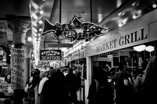 Wall Art - Photograph - Market Grill In Pike Place Market by David Patterson