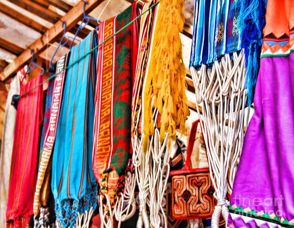 Photograph - Market Hammocks In El Casco By Diana Sainz by Diana Raquel Sainz