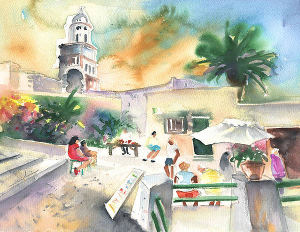 Painting - Market In Teguise In Lanzarote 07 by Miki De Goodaboom