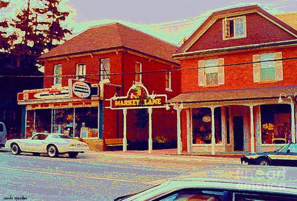 Painting - Market Lane Woodbridge Dominion Hardware Niagara Falls Ontario Vintage Streetscene Painting Cspandau by Carole Spandau