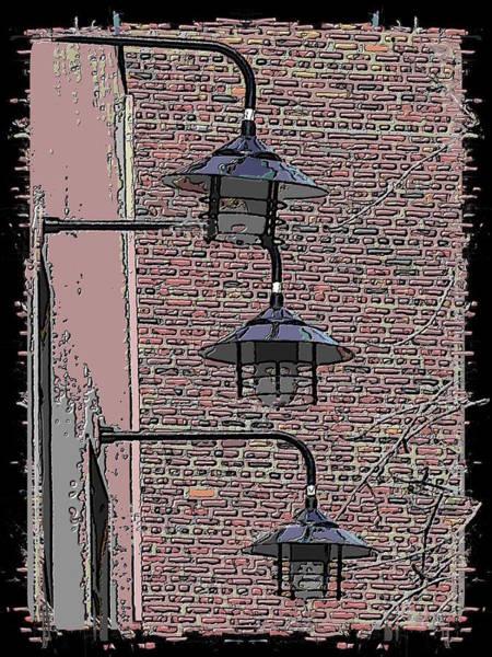Red Brick Digital Art - Market Lights by Tim Allen