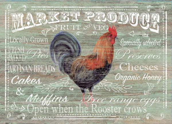Farmhouse Kitchen Painting - Market Produce by P.s. Art Studios