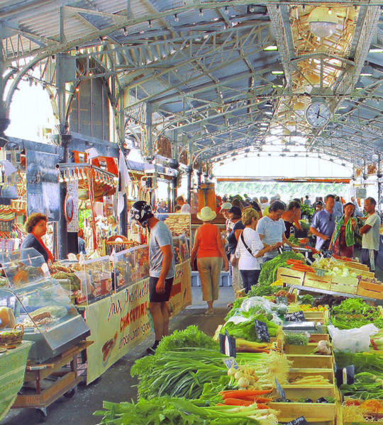 Photograph - Market Scene In Antibes France by Ben and Raisa Gertsberg