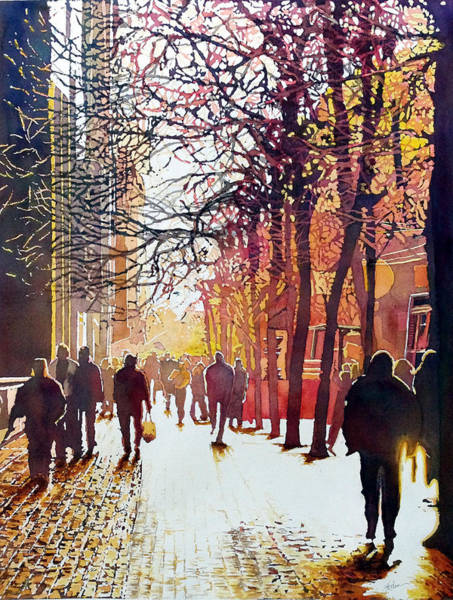 Painting - Market Street by Greg and Linda Halom