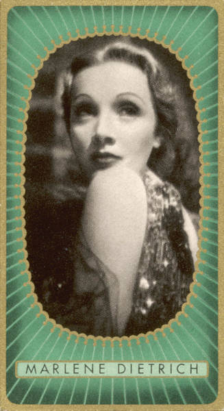 Wall Art - Photograph - Marlene Dietrich   German Film Actress by Mary Evans Picture Library