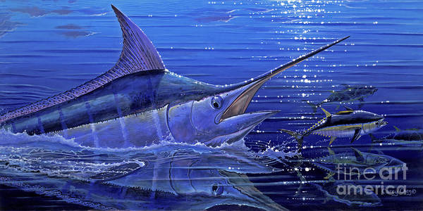 Big Island Painting - Marlin Mirror Off0022 by Carey Chen