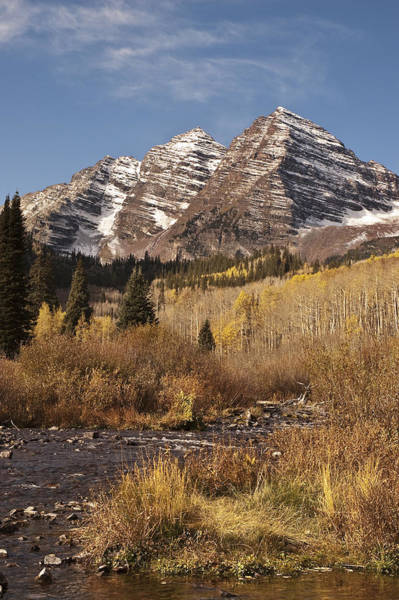 Photograph - Maroon Bells And Maroon Creek by Lee Kirchhevel