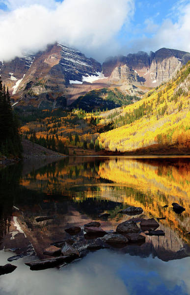 Maroon Bells Autumn Art Print