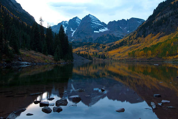 Photograph - Maroon Bells Autumn by Cascade Colors