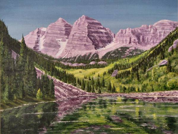 Wall Art - Painting - Maroon Bells Revisited by Dana Carroll