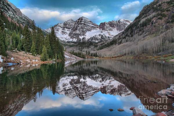 Photograph - Maroon Bells Sunrise by Adam Jewell
