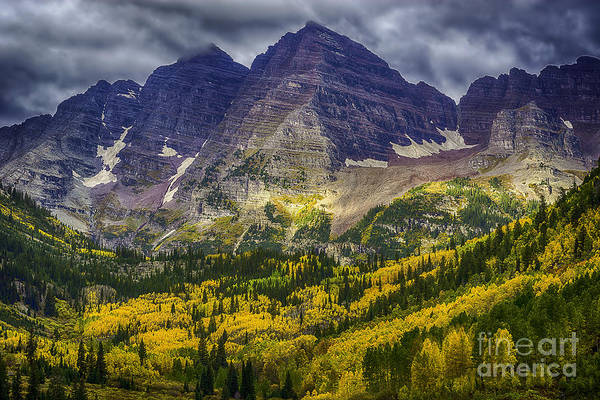 Photograph - Maroon Bells by Bitter Buffalo Photography