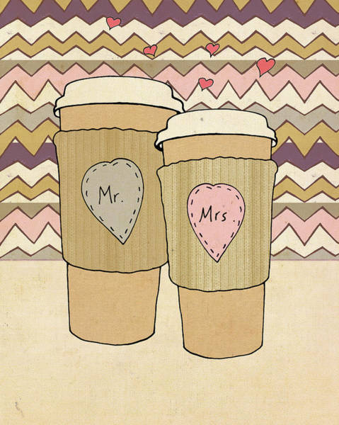 Wedding Painting - Maroon Lattes by Lisa Barbero