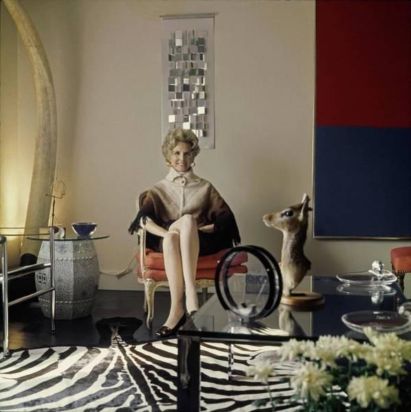 Antique Furniture Photograph - Marquesa Carol De Portago At Home by Horst P. Horst