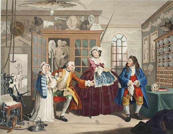 Morality Wall Art - Drawing - Marriage A La Mode, Plate IIi, The by William Hogarth