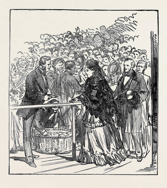Distribution Drawing - Marriage Festivities For The Duke Of Edinburgh The Royal by English School