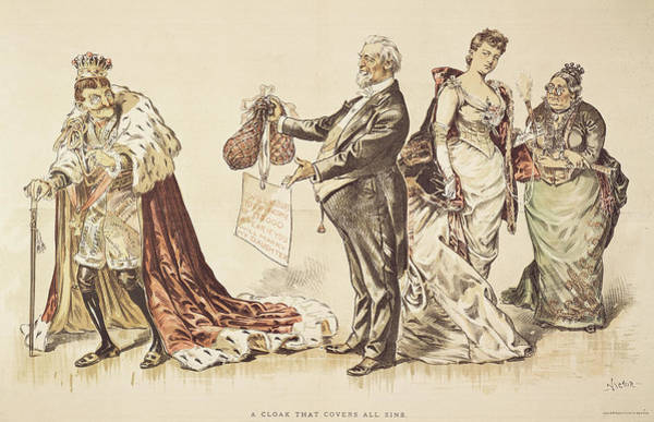 Political Cartoon Painting - Marriage For Titles, 1889 by Granger