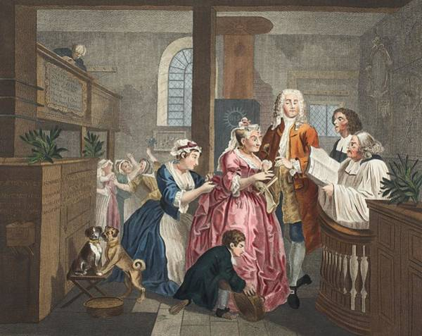 Morality Wall Art - Drawing - Married To An Old Maid, Plate V From A by William Hogarth