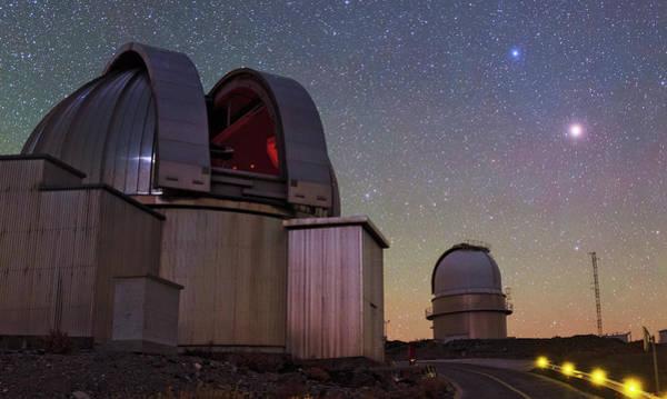 Astronomical Twilight Photograph - Mars And La Silla Observatory by Babak Tafreshi