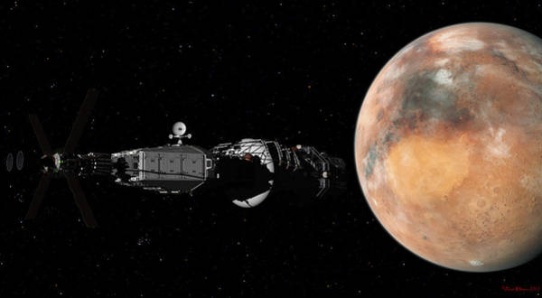 Digital Art - Mars Insertion A Different View by David Robinson