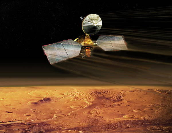Reconnaissance Photograph - Mars Reconnaissance Orbiter Aerobraking by Nasa/science Photo Library