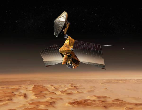Reconnaissance Photograph - Mars Reconnaissance Orbiter by Nasa/jpl/science Photo Library