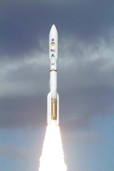 Lifting Photograph - Mars Science Laboratory Spacecraft Launch by Nasa