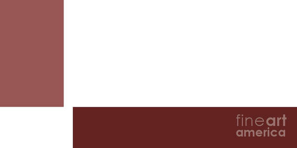 Digital Art - Marsala Minimalist Panorama 1 by Andee Design
