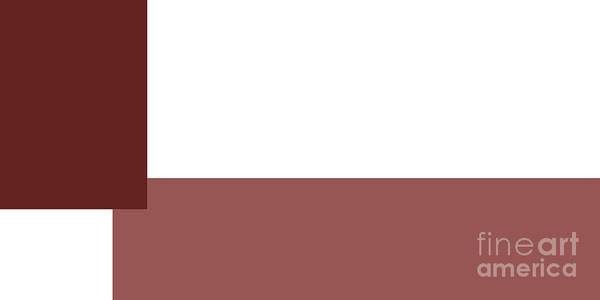 Digital Art - Marsala Minimalist Panorama 2 by Andee Design