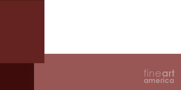 Digital Art - Marsala Minimalist Panorama 4 by Andee Design