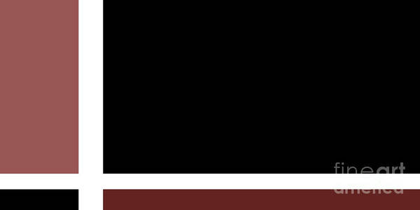 Digital Art - Marsala Minimalist Panorama 5 by Andee Design