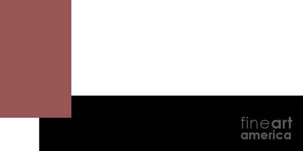 Digital Art - Marsala Minimalist Panorama 6 by Andee Design