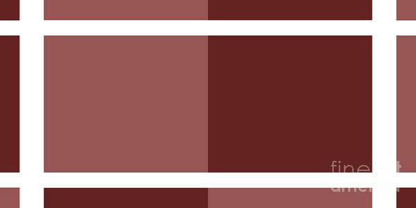 Digital Art - Marsala Minimalist Panorama 7 by Andee Design
