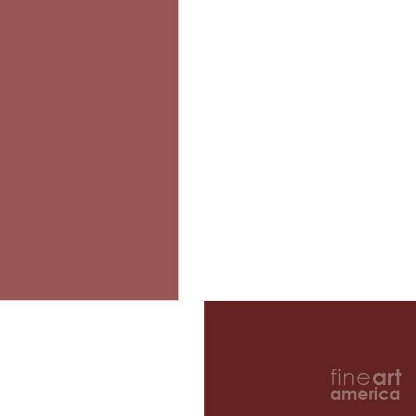 Digital Art - Marsala Minimalist Square 1 by Andee Design