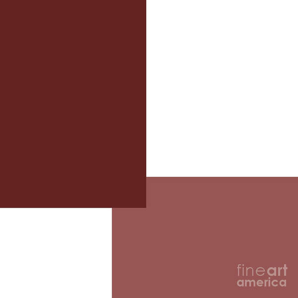 Digital Art - Marsala Minimalist Square 2 by Andee Design