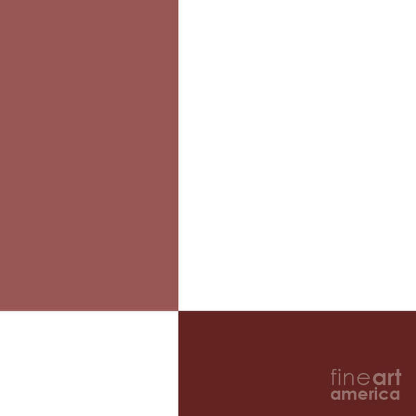 Digital Art - Marsala Minimalist Square 3 by Andee Design