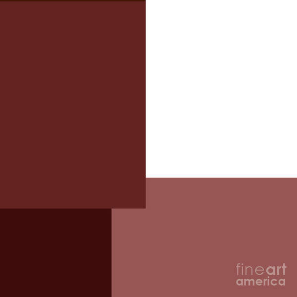 Digital Art - Marsala Minimalist Square 4 by Andee Design