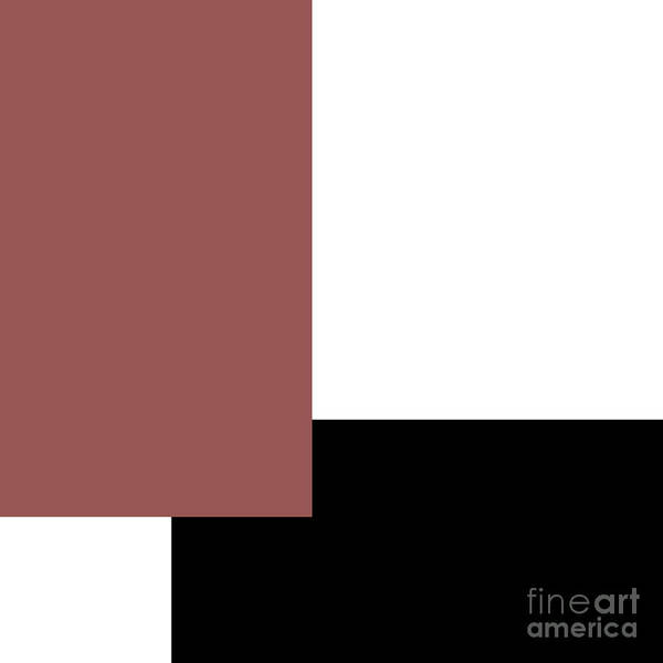 Digital Art - Marsala Minimalist Square 6 by Andee Design
