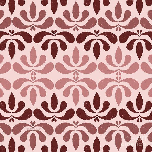 Digital Art - Marsala Petals On Pink 2 by Andee Design