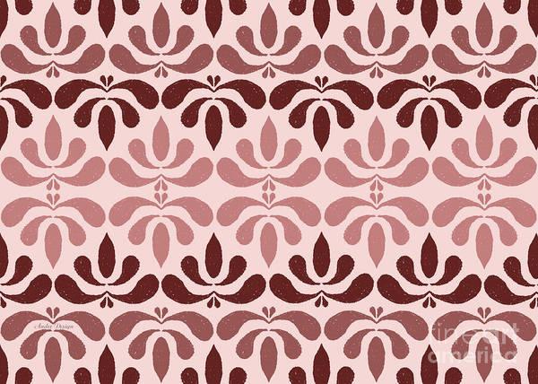 Digital Art - Marsala Petals On Pink 3 by Andee Design