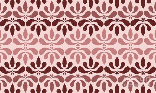 Digital Art - Marsala Petals On Pink 4 by Andee Design