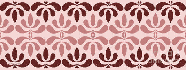 Digital Art - Marsala Petals On Pink 5 by Andee Design