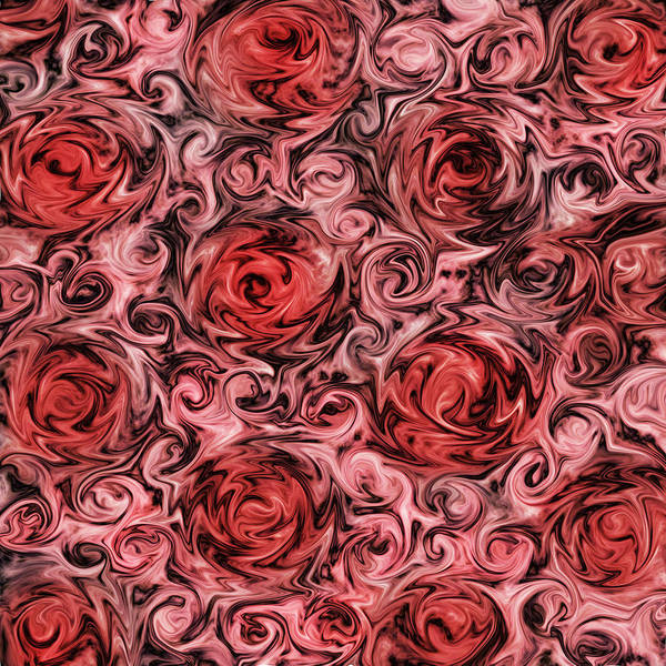 Liquid Digital Art - Marsala Roses by Patricia Lintner