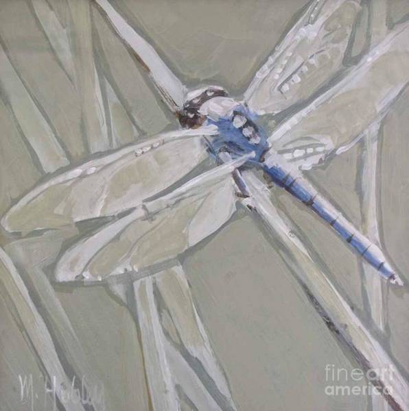 Dragon Fly Painting - Marsh Dragonfly by Mary Hubley