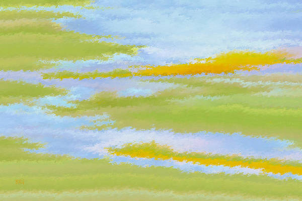 Wall Art - Digital Art - Marsh Landscape by Ben and Raisa Gertsberg